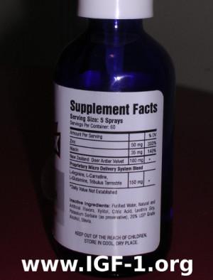 Antler X Ingredients